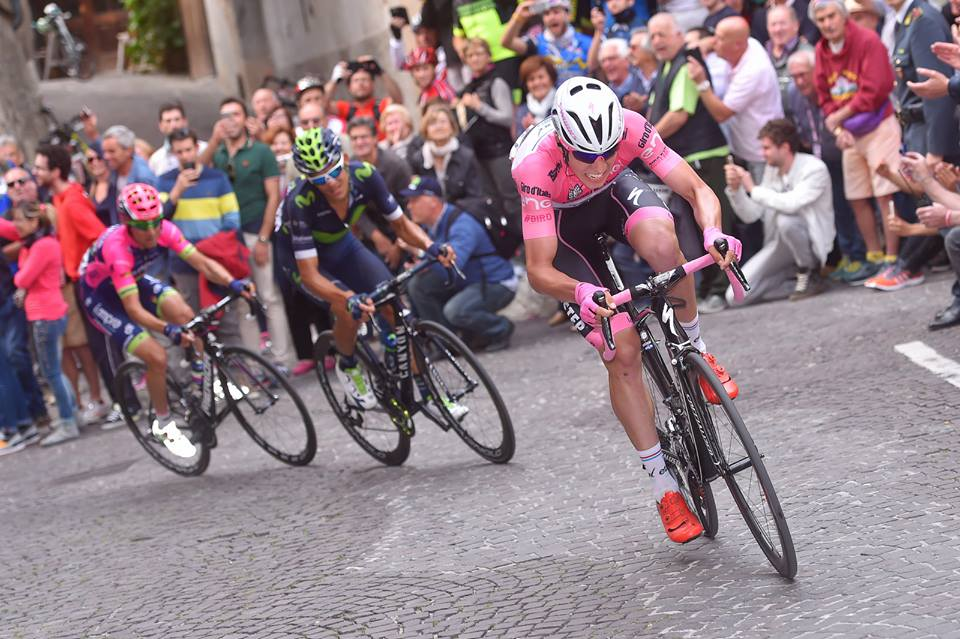 Bob Jungels kept the maglia rosa at the Giro d'Italia, proving he's a champion in the making. Image: Facebook