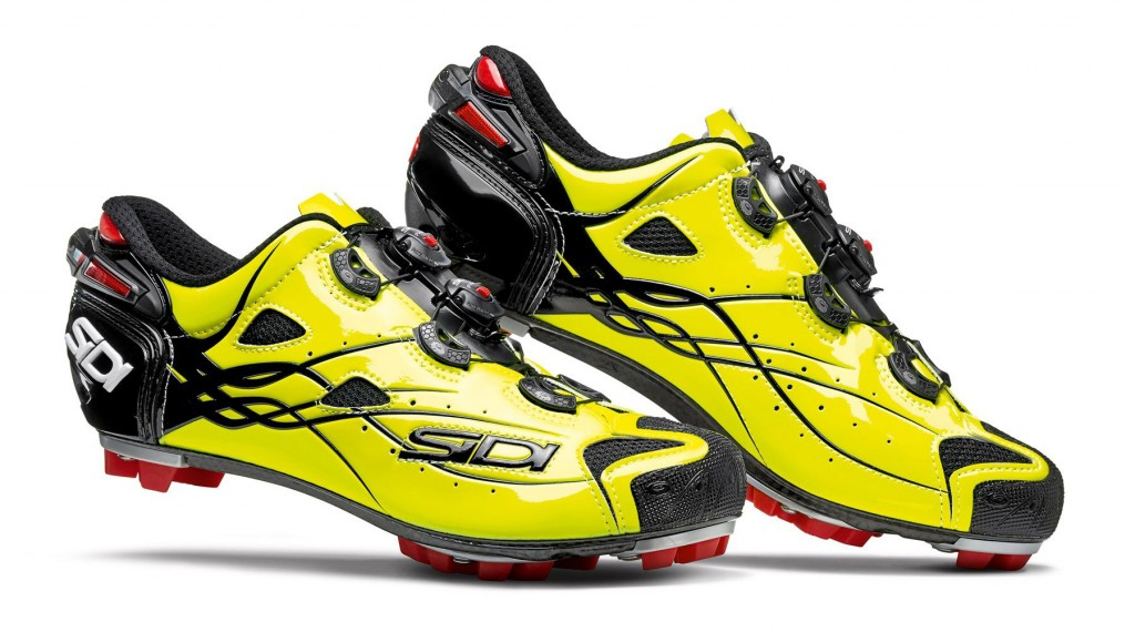 Sidi Tiger MTB in Bright Yellow. The yellow photoluminescent material captures natural or artificial daylight to give it back to the environment in the dark. The photoluminescence is a source of clean and renewable energy harmless to the environment and humans. Shop at www.sidionline.co.za.